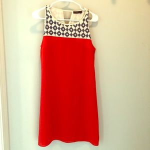 Orange and navy boutique sundress, never worn